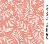 exotic foliage vector seamless... | Shutterstock .eps vector #684222079
