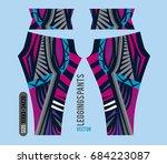 leggings pants fashion vector... | Shutterstock .eps vector #684223087