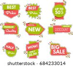 collection of sale banners ... | Shutterstock .eps vector #684233014