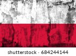 poland flag grunge background.... | Shutterstock . vector #684244144