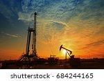 the oil rig  | Shutterstock . vector #684244165