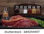 meat raw beef fillet chunk on... | Shutterstock . vector #684244447