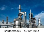 close up industrial view at oil ... | Shutterstock . vector #684247015