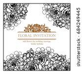 vintage delicate invitation... | Shutterstock .eps vector #684249445