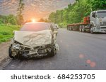 car crash accident on street ...   Shutterstock . vector #684253705