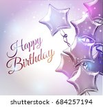 happy birthday background with... | Shutterstock .eps vector #684257194