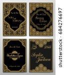 set of perfect wedding card... | Shutterstock .eps vector #684276697