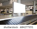 luggage at point of checking... | Shutterstock . vector #684277351