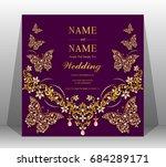wedding invitation card...   Shutterstock .eps vector #684289171