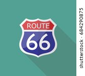 route 66 sign. vector... | Shutterstock .eps vector #684290875