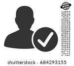 valid patient icon with black... | Shutterstock .eps vector #684293155