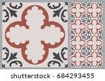 arabic patter style tiles for... | Shutterstock .eps vector #684293455