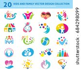 kids and family vector... | Shutterstock .eps vector #684298099