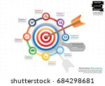 darts shoot into crotch for... | Shutterstock .eps vector #684298681