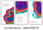 banner design with abstract... | Shutterstock .eps vector #684299875