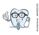 businessman tooth character... | Shutterstock .eps vector #684303145