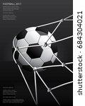 soccer football poster vector... | Shutterstock .eps vector #684304021