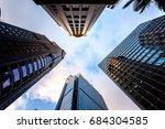 windows of skyscraper business... | Shutterstock . vector #684304585