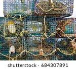 Closeup Of Lobster Pots  Ropes...