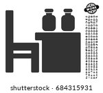 apothecary table icon with... | Shutterstock .eps vector #684315931