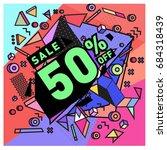 summer sale memphis style web...   Shutterstock .eps vector #684318439
