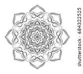 mandala. round ornament pattern....   Shutterstock .eps vector #684322525