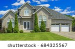 luxury house in the suburbs of... | Shutterstock . vector #684325567