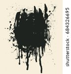 black ink blots and stains.... | Shutterstock .eps vector #684326695