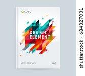minimalistic cover design... | Shutterstock .eps vector #684327031