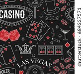 casino theme. seamless pattern... | Shutterstock .eps vector #684327571