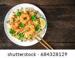 an overhead photo of a shrimp... | Shutterstock . vector #684328129