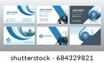 city background business card... | Shutterstock .eps vector #684329821