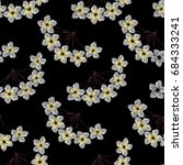 seamless pattern of embroidered ... | Shutterstock .eps vector #684333241