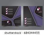 square flyer template. brochure ... | Shutterstock .eps vector #684344455
