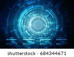 2d illustration technology... | Shutterstock . vector #684344671