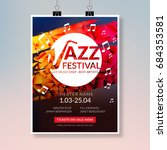 vector musical flyer jazz... | Shutterstock .eps vector #684353581