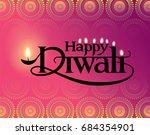 diwali festival. vector... | Shutterstock .eps vector #684354901