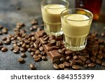 homemade chocolate coffee cream ...   Shutterstock . vector #684355399