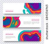 vector banner design with...   Shutterstock .eps vector #684356965