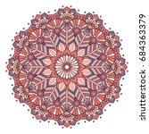 flower mandala. vintage... | Shutterstock .eps vector #684363379