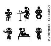 man people various sitting ... | Shutterstock .eps vector #684368509