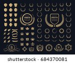 luxury logo set. crest logo... | Shutterstock .eps vector #684370081