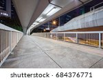 view of footbridge at night in... | Shutterstock . vector #684376771