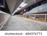 view of footbridge at night in... | Shutterstock . vector #684376771