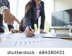 business people discussing... | Shutterstock . vector #684380431