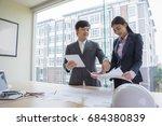 engineer people meeting working ... | Shutterstock . vector #684380839