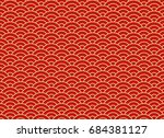 chinese traditional oriental... | Shutterstock .eps vector #684381127