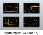 set of white  black and gold... | Shutterstock .eps vector #684385777
