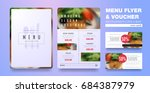 menu design template with clean ... | Shutterstock .eps vector #684387979