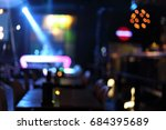 blur dj booth bar  bokeh back